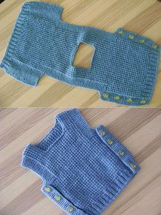 Baby Boy Knitting, Knitting For Kids, Easy Knitting, Baby Knitting Patterns, Baby Patterns, Start Knitting, Baby Knits, Diy Crafts Knitting, Pull Bebe
