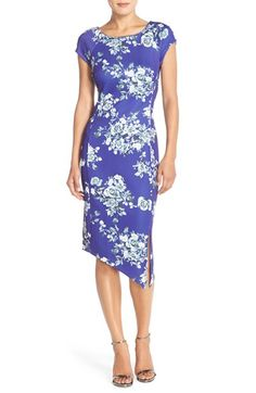 ECI floral print scuba sheath dress available at #Nordstrom.