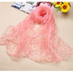 USD4.49Elegant Polka Dots Pink Silk Beach Scarves
