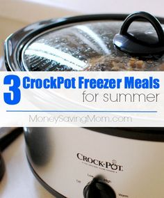 Looking for some yummy recipes that won't heat up your kitchen this summer? Check out these 3 Crockpot Freezer Meals...