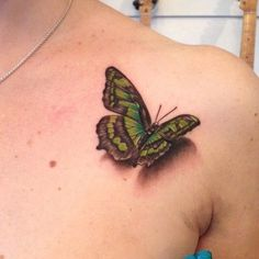 3D Butterfly Tattoo - 45+ Incredible 3D Butterfly Tattoos