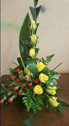 Funeral Floral Arrangements, Tropical Flower Arrangements, Church Flower Arrangements, Rose Arrangements, Tropical Flowers, Floral Flowers, Altar Flowers, Church Flowers, Wedding Flowers
