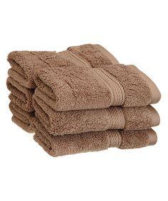 Look at this #zulilyfind! Latte Face Towel - Set of Six #zulilyfinds