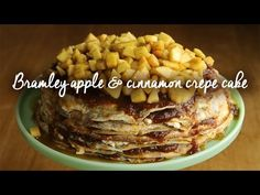 Bramley apple and cinnamon crepe cake for Bramley Apple Week - Recipes from a Normal Mum Roast Pork Joint, Roast Pork Dishes, Roasted Apples, Baked Apples, Cinnamon Apples, Bramley Apple Recipes, Thin Pancakes, Crepe Cake, Oven Dishes