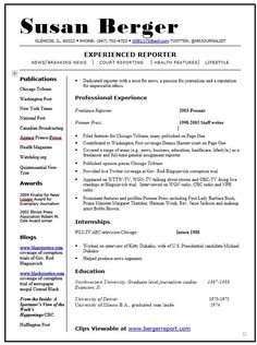 Journalism Resume Code  A152 Inquiriesorder  Papergipsygmail Waphone