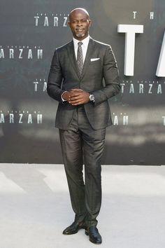 Djimon Hounsou, 52 - 11 Celeb Men in Their Fifties Whose Style is Always on Point Fine Black Men, Handsome Black Men, Black Man, Dapper Gentleman, Gentleman Style, Gi Joe, Djimon Hounsou, Black Indians, Fifties Fashion