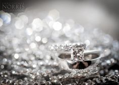 Engagement Ring And Wedding Bands Photographed On Brides Sparkly Clutch Photography By Christopher Norris Photographers Cleveland