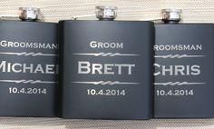 Groomsmen Flask, Personalized Flasks for Men, Wedding Favors for Groomsmen, Custom Engraved Flasks, Bachelor Party Gift, Groomsmen Gift Idea