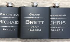 Groomsmen Flask, Personalized Flasks for Men, Wedding Favors for Groomsmen, Custom Engraved Flasks, Bachelor Party Gift, Groomsmen Gift Idea