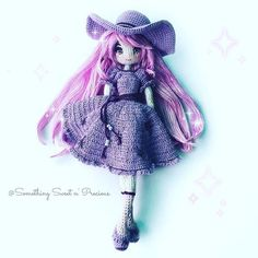 Ms Berry~ the elegant and modern look #amigurumi #purplelove #embroidery #鉤針娃娃 #anime