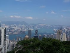 Hong Kong  Victoria Peak, looking north over Central, Victoria Harbour and Kowloon