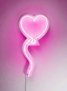 Cute pink neon heart balloon!