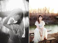 outdoor bridal shoot.