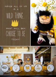 FREE PRINTABLES Where the Wild Things Are inspired first Birthday, Korean dol, Modern, yellow, theme. Event design and styling, paper goods, and photography by Jackie Culmer Photography. www.jackieculmer.com, © Jackie Culmer Photography