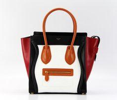 bagagli di Celine scatola borse presa mini grenn bag smlle