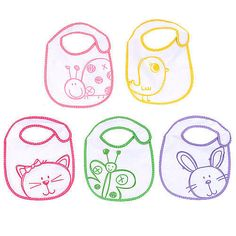 The design may be sketchy but theres nothing sketchy about the quality of these Babies R Us Bibs. This 5-pack of sketch animal themed bibs a BabiesRUs exclusive includes enough to keep your little critter mess-free for many mealtimes. These absorbent terry bibs close securely with a hook-and-loop fastener and come in a variety of designs.