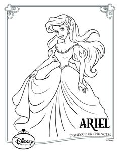 Disney Princess Colouring Pages 18