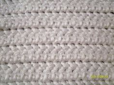 learn to crochet the counterpane stitch -- stretchy and soft, great for bedspreads!