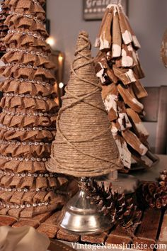How to Make a Burlap Christmas Tree with Glitter {Video Tutorial}