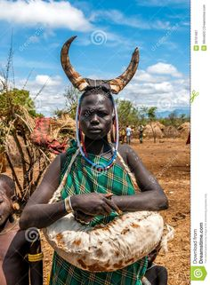 Omo Valley People - Mursi Tribe Editorial Photography - Image ...