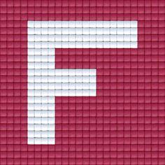 X Letter F | Pixel Party