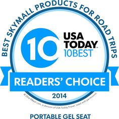 Gelco Products' GSeat was chosen by SkyMall and USA Today as one of the top 10 road trip accessories!