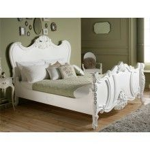 Loire French Style White Wooden Bed Frame