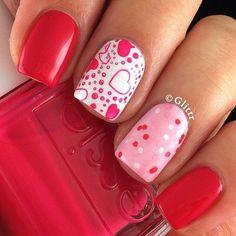 Valentine Day Nails!! Super Cute!!