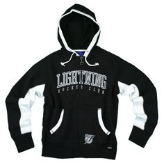 Tampa Bay Lightning NHL Womens Sunday Hoodie, Hooded Zip Sweatshirt, Black $24.95