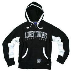 Tampa Bay Lightning NHL Womens Sunday Hoodie, Hooded Zip Sweatshirt, Black $24.95
