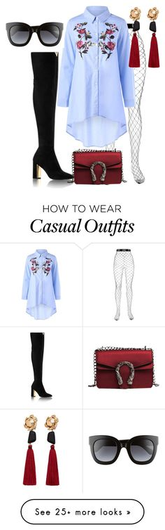 """""""sexy casual fab"""" by puterizairin on Polyvore featuring GCDS, Gucci and MANGO"""