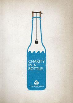 Viva con Agua #Charity #Bottle Poster | http://www.gutewerbung.net/viva-con-agua-charity-bottle-poster/ #Advertising