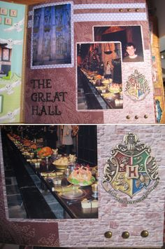 The Great Hall Harry Potter scrapbook