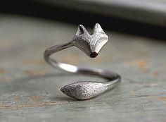 925 Echtsilber Fuchs Ring