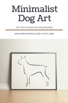 Boxer Wall Art, Dog Lover Gift for Dog Mom, Minimalist Wall Art, Housewarming Gift for Her, Boxer Pet Portrait Best Dog Gifts, Dog Mom Gifts, Dog Lover Gifts, Lovers Art, Dog Lovers, Monochromatic Decor, Gifts For Dog Owners, Minimalist Art, Dog Art