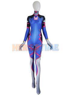 Overwatch OW Game D. Va DVA Costume Halloween Cosplay Zentai Suit High Quality