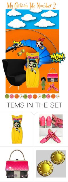 """My Cartoon Life Number 2"" by anna-ragland ❤ liked on Polyvore featuring art, contemporary and vintage"