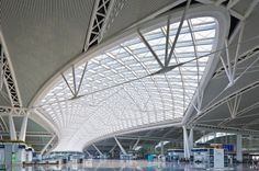 Guangzhou South high speed railway station in China.