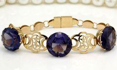 Antique C 1920 Art Deco 18k Gold Egyptian Revival Corundum Alexandrite Bracelet! in Jewelry & Watches, Vintage & Antique Jewelry, Fine, Art Nouveau/Art Deco 1895-1935, Bracelets | eBay