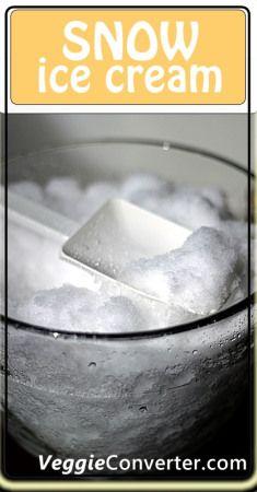 Dairy-free Snow Ice Cream   @VeggieConverter
