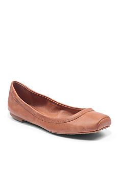 Lucky Brand Santana FlatThis all-leather ballet flat features a snip toe and boasts an incredibly flexible sole. The insole provides arch support for added comfort. Slip-on Leather Imported