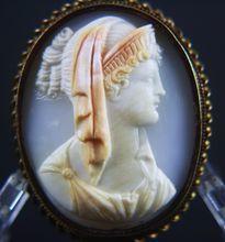 Rare Victorian Cameo of Goddess Hera (Juno)