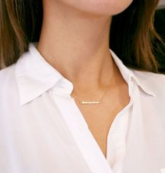 Delicate Gold Bar Necklace 14kt Gold by @Amanda Snelson Eddy on Etsy, $28.00