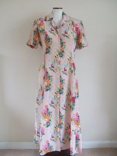 "Vintage 90s pink floral dress Sz medium B38"" by StellaRoseVintage, £23.00"