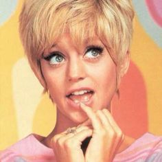 Laugh-In, Goldie Hawn...thanks for the pixie hair cut...inspiration for my 1st grade school photo