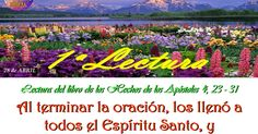 LECTURAS DEL DIA Hechos de los apóstoles (4,23-31) Sal 2,1-3.4-6.7-9 Juan (3,1-8) https://goo.gl/vhvFfc