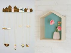 Houses inspiration: Houses Jewelry Display/ Shlomit Ofir & TweelingenHomeDecor house shaped shelves