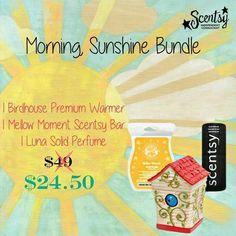 Https://niti.scentsy.us  Morning sunshine bundle from Scentsy