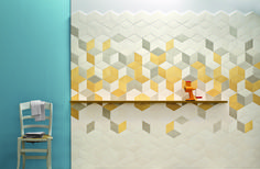 This is lovely...  Mutina Tiles Handmade tiles can be colour coordinated and customized re. shape, texture, pattern, etc. by ceramic design studios