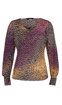 """CROC"" silk croc print blouse   Fall 2013 - ETCETERA COLLECTION"